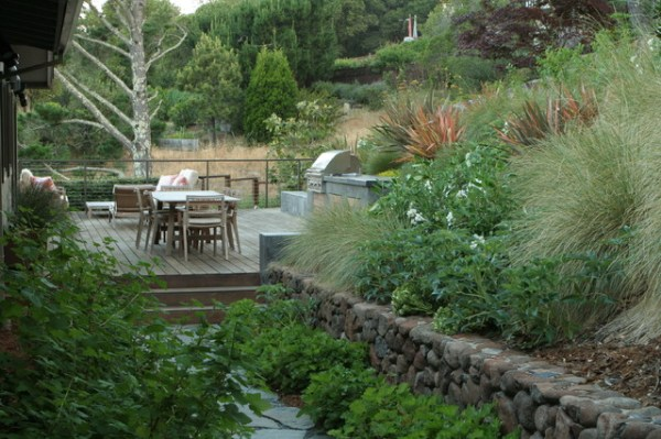hillside garden - modern landscape
