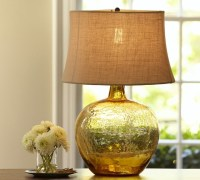 Clift Glass Table Lamp Base, Amber - Contemporary - Lamp ...