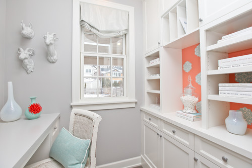 Aqua, Coral and Chinoiserie by Refined LLC