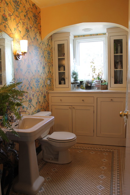 Bathroom Redo With Wallpaper Eclectic Bathroom Chicago