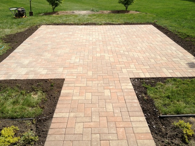 Inviting Brick Patio  Rustic  Patio  chicago  by Gem Ponds Inc