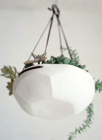 Faceted Hanging Tray - Contemporary - Indoor Pots And ...