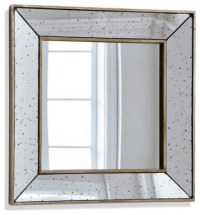 Square Antiqued Beveled Mirror - Traditional - Mirrors ...