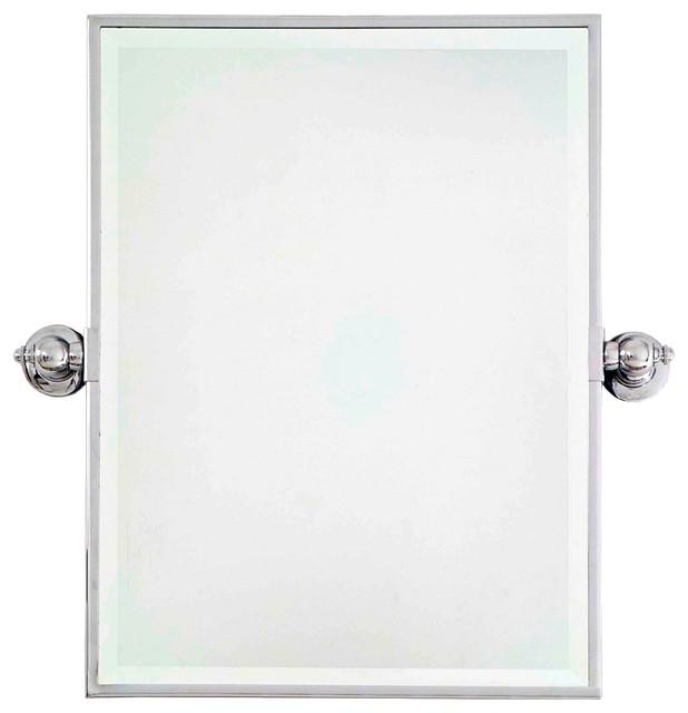 Traditional Minka 24 High Rectangle Chrome Bathroom Wall