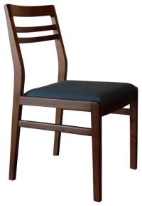 Louis Dining Chair, Walnut Medium - Azure - Midcentury ...