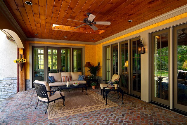 Covered Porch Sitting Area
