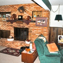 Dark Blue Couch In Living Room Plants Ideas Fireplace And Wood Paneling Paint Dilemma
