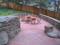 Sunshine Canyon Flagstone and Moss Rock Patio Project ...
