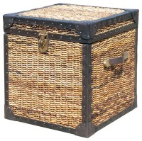 """Seagrass Woven Trunk Side Table 20"""" - Tropical - Side ..."""