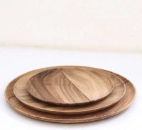 Wooden Plates - Contemporary - Dinner Plates - by Brook ...