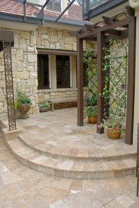 French Country Style Garden - Traditional - Patio - other ...