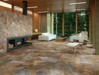 Sintesi Newslate Living Room - Rustic - Wall And Floor ...