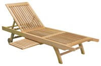 Cancun Outdoor Eucalyptus Chaise Lounge Chair ...