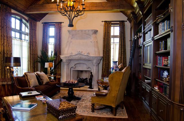 English Tudor Estate Traditional Home Office
