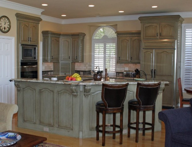 Kitchen Cabinets Before  After  Traditional  Kitchen