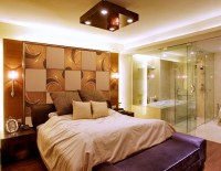 background wall,mirror wall tiles - Contemporary - Bedroom ...