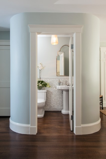 average size of kitchen sink custom table powder rooms & small bath ideas - traditional ...