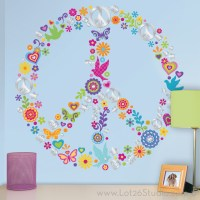 Peace Sign Collage Wall Decals - Wall Decals - san ...