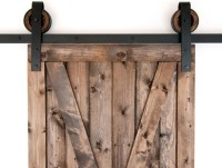 Black Rustic Slide Barn Door Closet Hardware Set, 10ft, 2 ...
