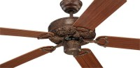Montecarlo Ornate Ceiling Fan in Tuscan Bronze ...