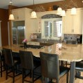 See the stove top in island where is the oven in this kitchen
