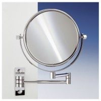 "18.9"" Extendable Double Face Wall Mounted 5X Magnifying"