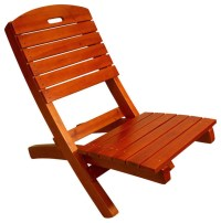 Adirondack Outdoor Lounge Chair, Solid Wood