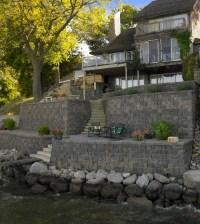 Lakeside Retaining Walls traditional-landscape