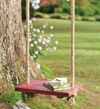 Rope Tree Swing with Wooden Seat - Traditional - Kids ...