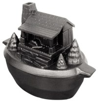 Porcelain-Coated Cast Iron Log Cabin Steamer - Traditional ...