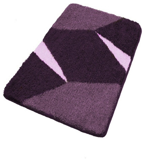 Purple Non Slip Contemporary Bathroom Rugs Large