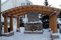 Backyard Pergola and Fireplace - Traditional - Patio ...