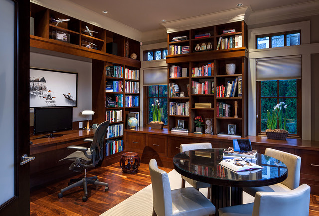 Acadia Road Residence  Traditional  Home Office