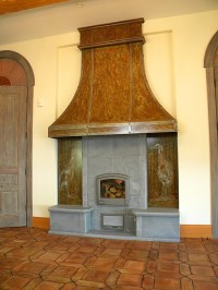 Custom Fireplace Hood and Surround - Eclectic - Living ...