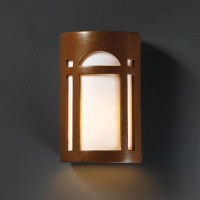 Ambiance Rust Patina Large Arch Window Outdoor Wall Sconce ...