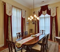 Elegant Custom Window Treatments - Traditional - Dining ...