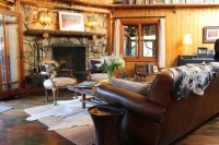 Adirondack Style Lodge - Rustic - Living Room - by Madison ...