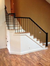 2 Rustic Hickory stairs