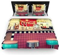 """Sylvia Cook """"Retro Diner"""" Coca Cola Woven Duvet Cover ..."""