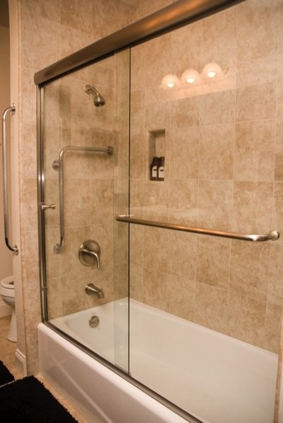 Euro Style Bypass Bathtub Enclosure  Bathroom