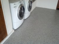 Garage Floor With Westcoat Liquid Granite Flake Floor