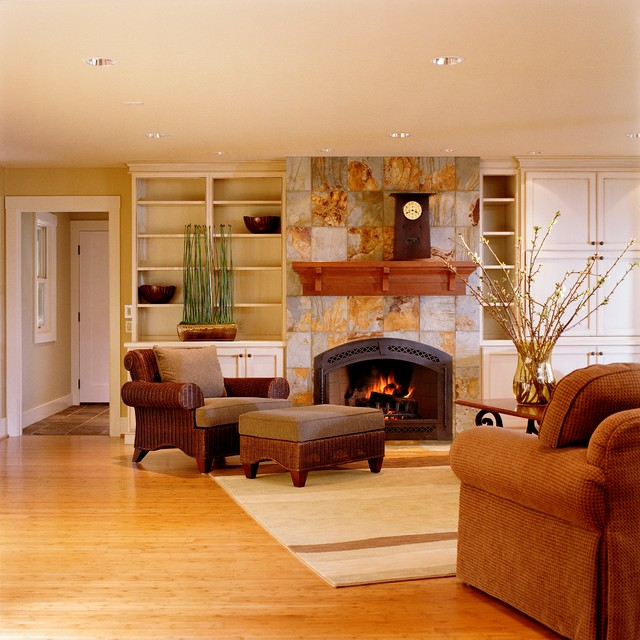 Beautiful Fireplace Settings  Traditional  Family Room