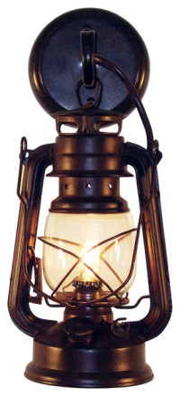 Rustic Lantern Wall-Mounted Light - Rustic - Outdoor Wall ...