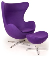 Kardiel Egg Chair & Ottoman, Purple Boucle Cashmere Wool ...