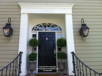 Front Door Gas Lanterns - Traditional - Entry - houston ...