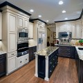 Mixing colors for a dramatic look traditional kitchen denver