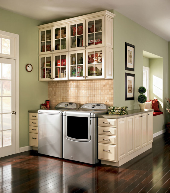 shenandoah kitchen cabinets tiled floors laundry - traditional room dc metro by ...
