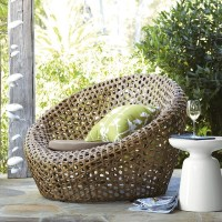 Montauk Nest Chair, Antique Palm - Modern - Outdoor Lounge ...