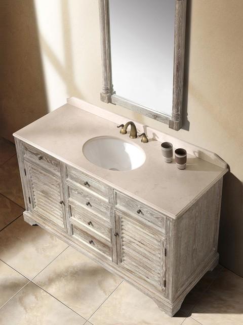 5925 Vicoli Single Bath Vanity  Driftwood