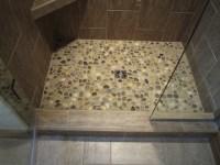 tile shower floor river rock